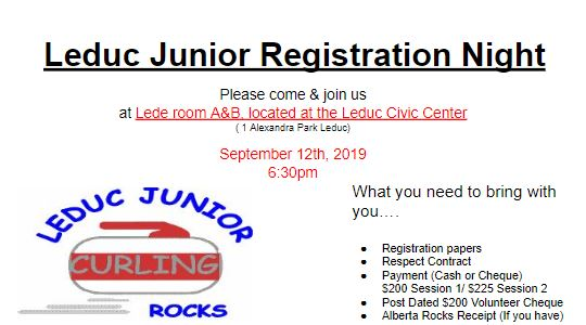leduc junior registration